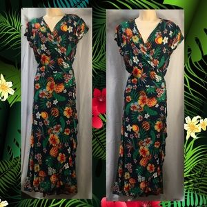 Floral wrap dress for those spring and summer days